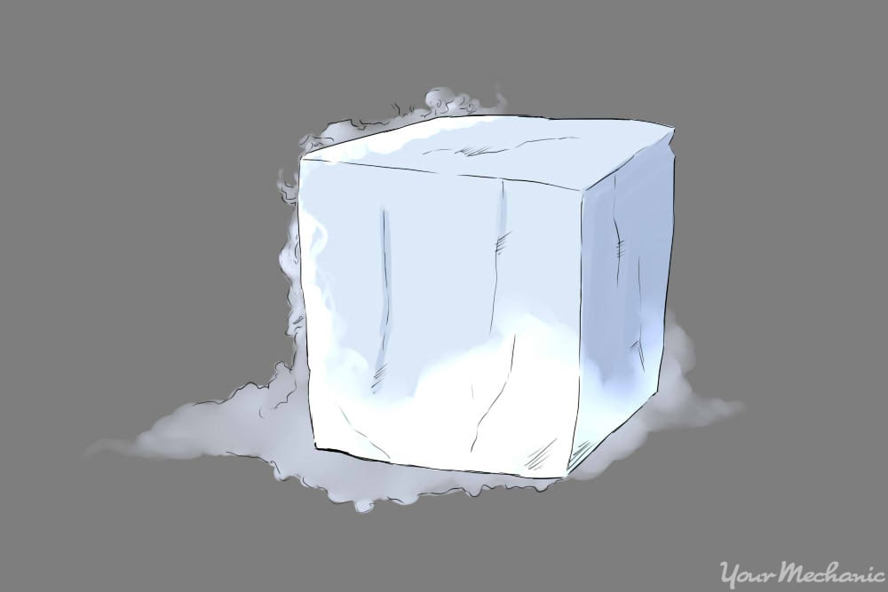 block of dry ice