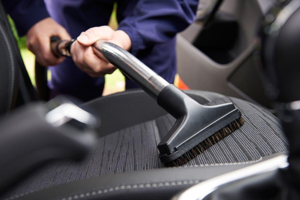 car being vacuumed