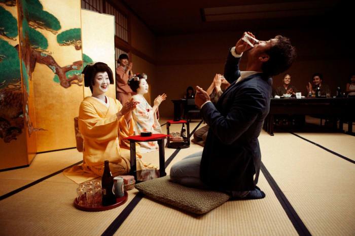 porter un toast - Japon