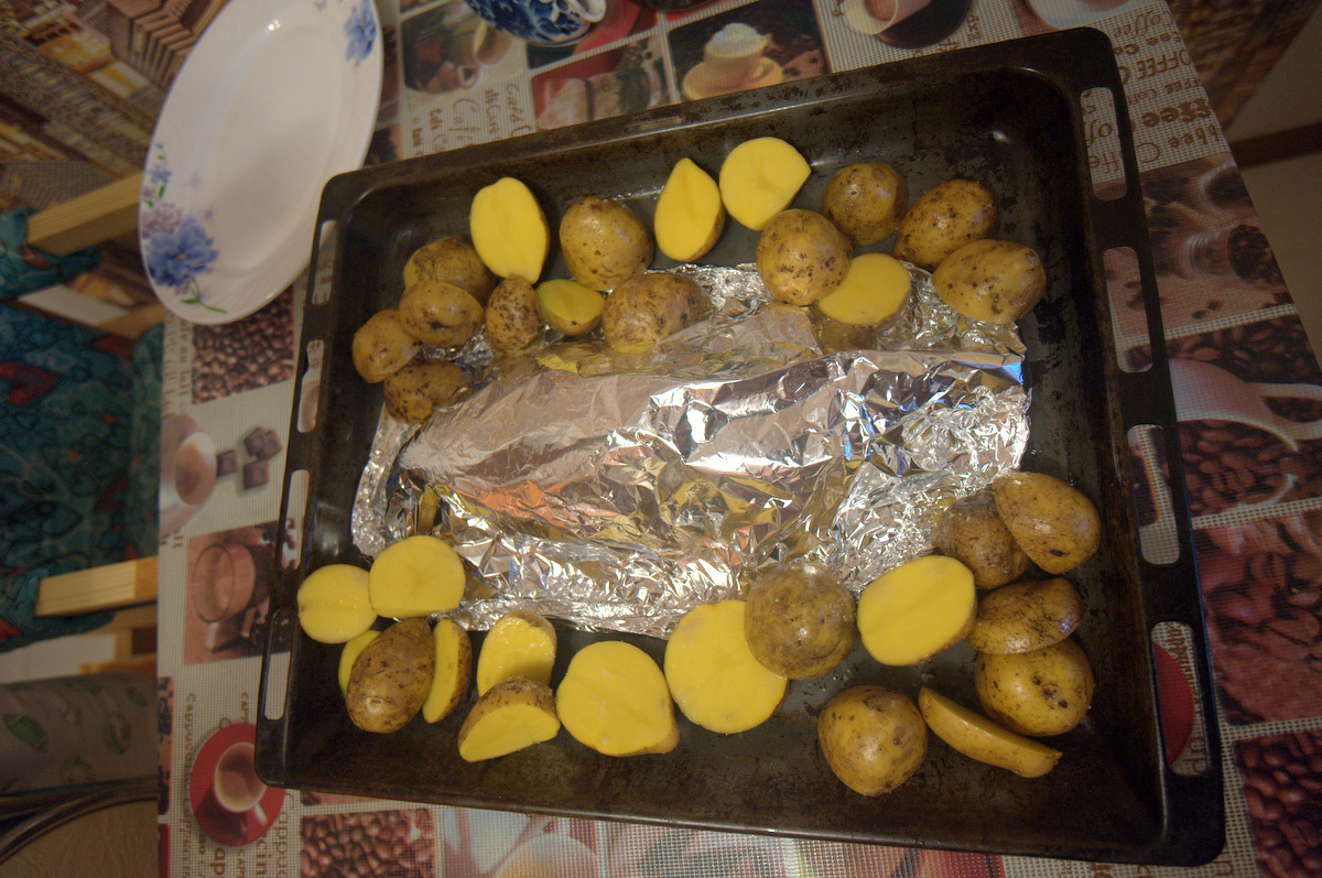 фольга картофель