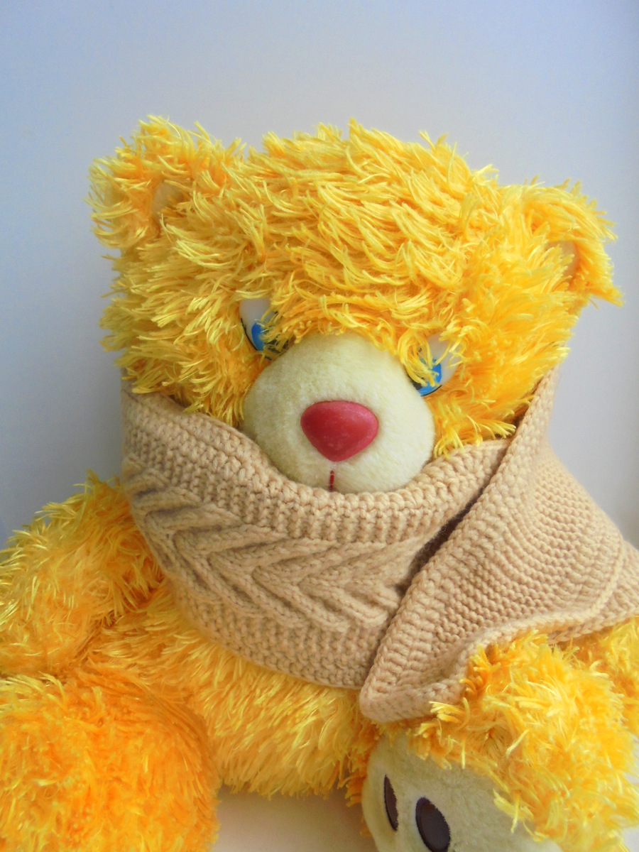 вязанный шарфик