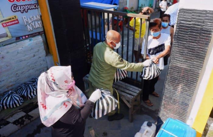 Duh! BPBD Kota Kediri Kirimkan Paket Rekreasional Kepada Warga Isoma