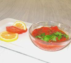 מטבוחה עגבניות ופלפל אדום