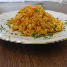 נתחי פרגית / טופו מוקפצים עם אורז ברוטב ברביקיו