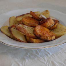 תפוחי אדמה ובטטה אפויים