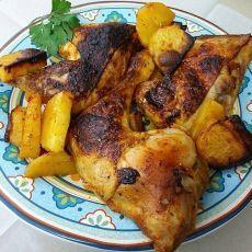 """כרעיים עוף ותפו""""א צלויים בתנור"""
