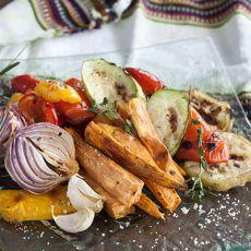 ירקות צבעוניים בגריל