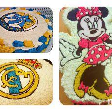 עוגות זילוף קצפת  בעיצוב עצמי לפי בחירה