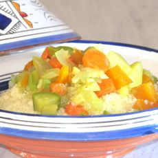 קוסקוס עם מרק ירקות