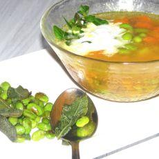 מרק בטטה גזר פולי סויה קלויים עם זרעי צ'יה