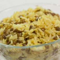 אורז עם עדשים- מג'דרה