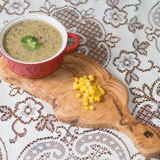 מרק תירס, פטריות וחלב קוקוס עשיר ומיוחד