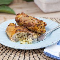 פרגיות ממולאות בבשר,אורז ופטריות