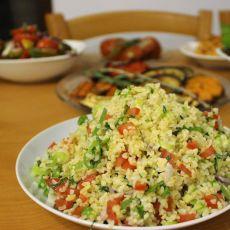סלט טאבולה - סלט טאבולה עם ירקות