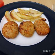קציצות עוף עם ירקות בתנור בתוספת תפוחי אדמה