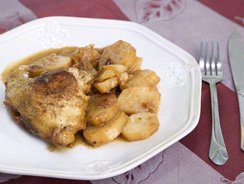 צלי עוף עם תפוחי אדמה בבישול ארוך