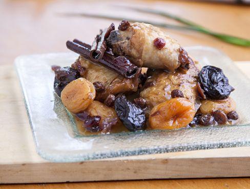 צלי עוף בפירות, יין ודבש