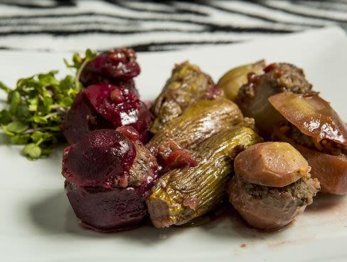 ממולאים של ירקות עם בשר בקר
