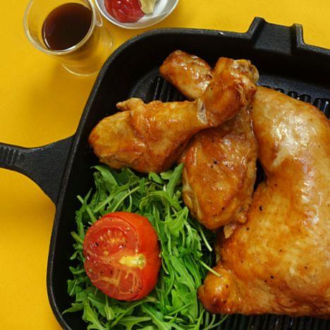 עוף בתנור עם רוטב ברביקיו תוצרת עצמית