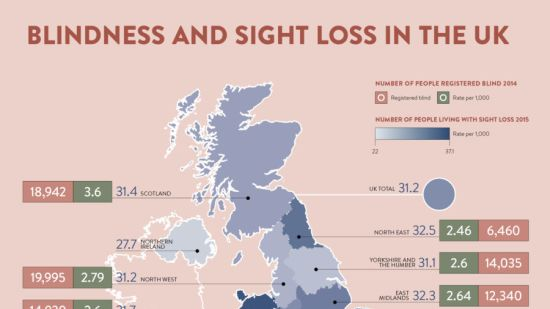 Blindness and sight loss in the UK