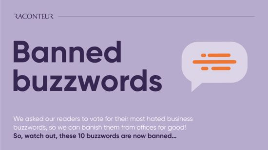 Banned buzzword infographic