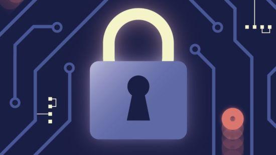cartoon padlock illustrating cyberattacks