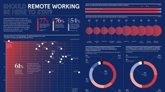 Remote working infographic