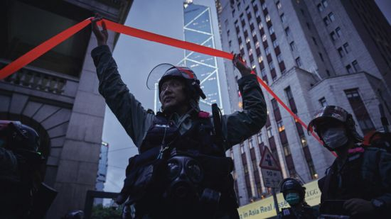 Hong Kong police officer