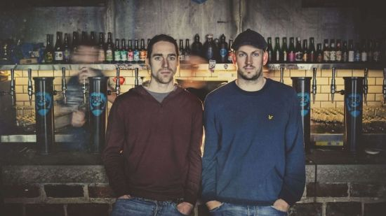 BrewDog CEO James Watt (right) and co-founder Martin Dickie (left)