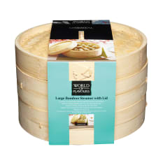Kitchen Craft World of Flavours Oriental Bamboo Steamer, 22cm