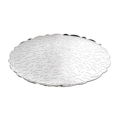 Alessi Dressed Stainless Steel Round Tray, 35cm
