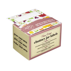 Kitchen Craft Home Made Self Adhesive Assorted Chutney Jar Labels, Pack of 100