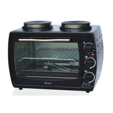 Swan 22 Litre Mini Oven with 2 Solid Hotplates
