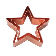 Eddingtons Vintage Copper Star Cookie Cutters, Set of 2