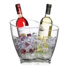 KitchenCraft Clear Acrylic Double-Sided Wine Bucket
