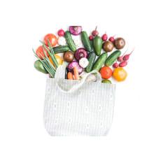 Buzzy Wraps Cotton Tote Bag