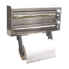 Kitchen Craft Stainless Steel Cling Film, Foil and Kitchen Towel Dispenser