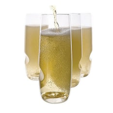 Govino Plastic Picnic Champagne Glasses, Set of 4