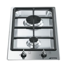 Smeg Built-In Domino Low Profile 2 Burner Gas Hob, 30cm