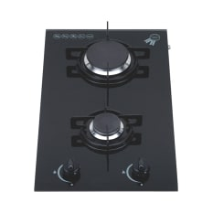 Swiss Built-In Domino 2 Burner Gas on Glass Hob, 30cm