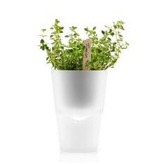 Eva Solo Frosted Glass Self-Watering Herb Pot