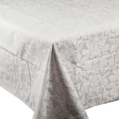 DSA Table Linen Specialists Rectangular Stone Palace Damask Tablecloth