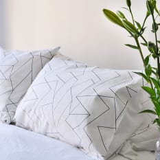 Zana Screen Printed Cotton Pillowcases, Set of 2