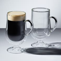 Kitchen Craft Le'Xpress Double Walled Irish Coffee Glasses, Set of 2, 275ml