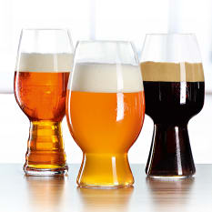 Spiegelau Lead-Free Crystal Craft Beer Glass Tasting Kit, Set of 3