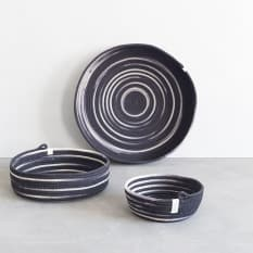 Mia Melange Liquorice Table Basket