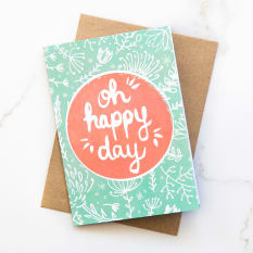 Yuppiechef Greeting Cards Illustrated Oh Happy Day Greeting Card