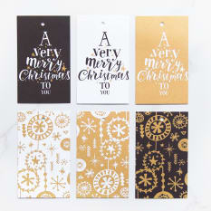 Yuppiechef Greeting Cards A Very Merry Christmas Gift Tags, Set of 6