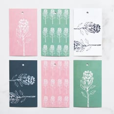 Yuppiechef Greeting Cards Illustrated Protea Gift Tags, Set of 6