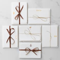 Love Letters Stationery Copper Foiled Icon Cards, Pack of 8
